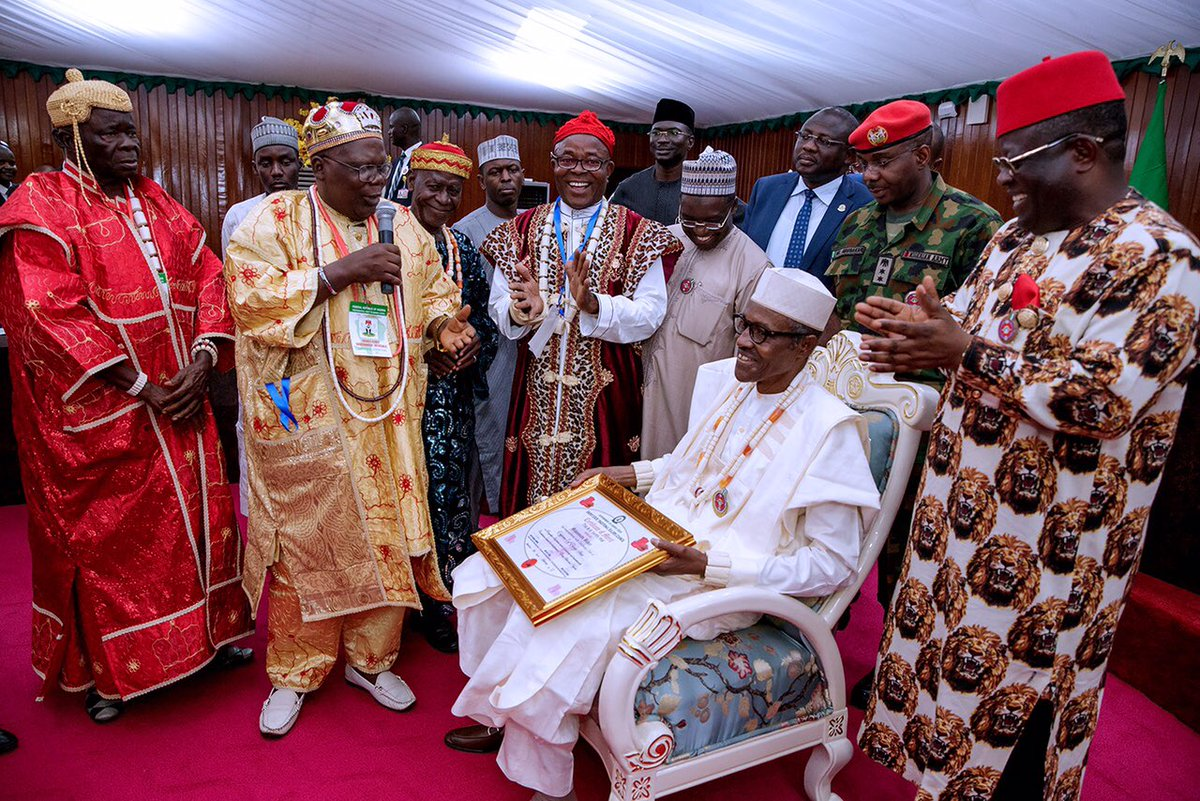 President Buhari bags cheiftaincy titles in Biafraland